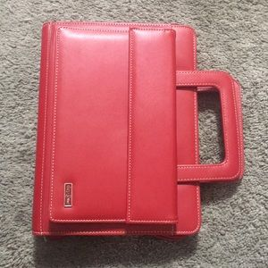 Franklin Covey Day One Red Classic Planner 7 Ring
